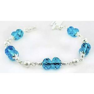 Jewelry - Genuine Sterling Silver Blue Topaz Bracelet